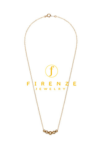 14K Gold Filled Handmade 1.3X400mm PlateCableChain with 2x4mmx2x5mmx6mmRoundBall Necklace[Firenze Jewelry] 피렌체주얼리