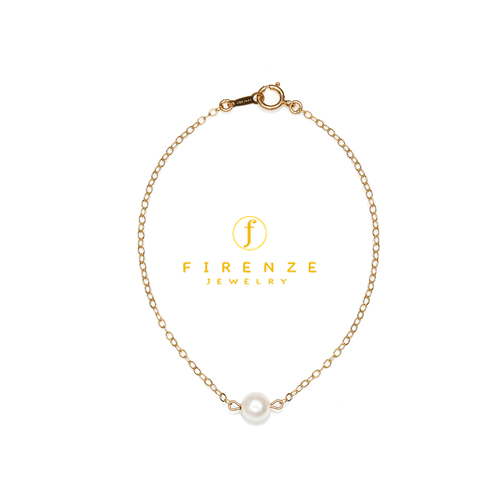 14K Gold Filled Handmade 1.6mmx180mmplateCablechain with 5mmFreshwater Pear  (Anklet) Bracelet[Firenze Jewelry] 피렌체주얼리
