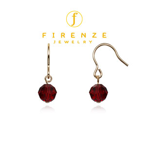 14K Gold Filled Handmade 6mm SwarGarnet Earrings[Firenze Jewelry] 피렌체주얼리
