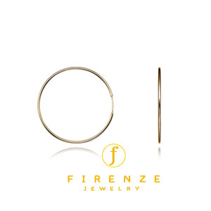 14K Gold Filled 40mm EarHoop Earring[Firenze Jewelry] 피렌체주얼리