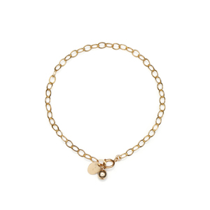 14K Gold Filled Handmade 3.4mmx180mm plateCablechain with 5mmRoundBall (Anklet) Bracelet[Firenze Jewelry] 피렌체주얼리