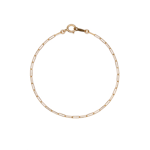 14K Gold Filled Handmade 2.0mm x 5.5mmx180mm plateCablechain (Anklet) Bracelet[Firenze Jewelry] 피렌체주얼리