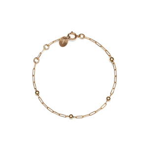 14K Gold Filled Handmade 2.0mm x 5.5mmx180mm plateCablechain with 4X3mm Roundball (Anklet) Bracelet[Firenze Jewelry] 피렌체주얼리